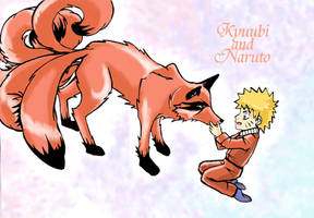 Kyuubi and Naruto by IreIreIre