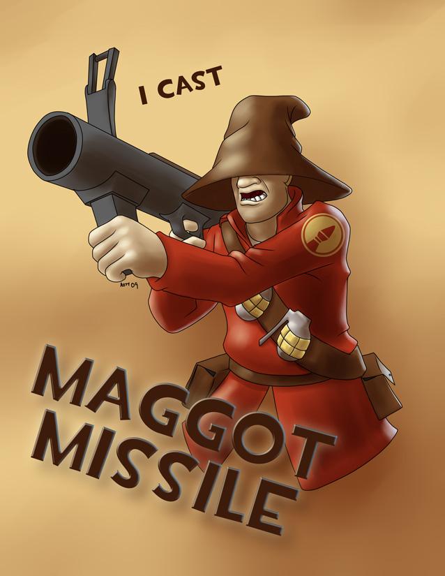 I Cast Maggot Missile by AzraelleWormser