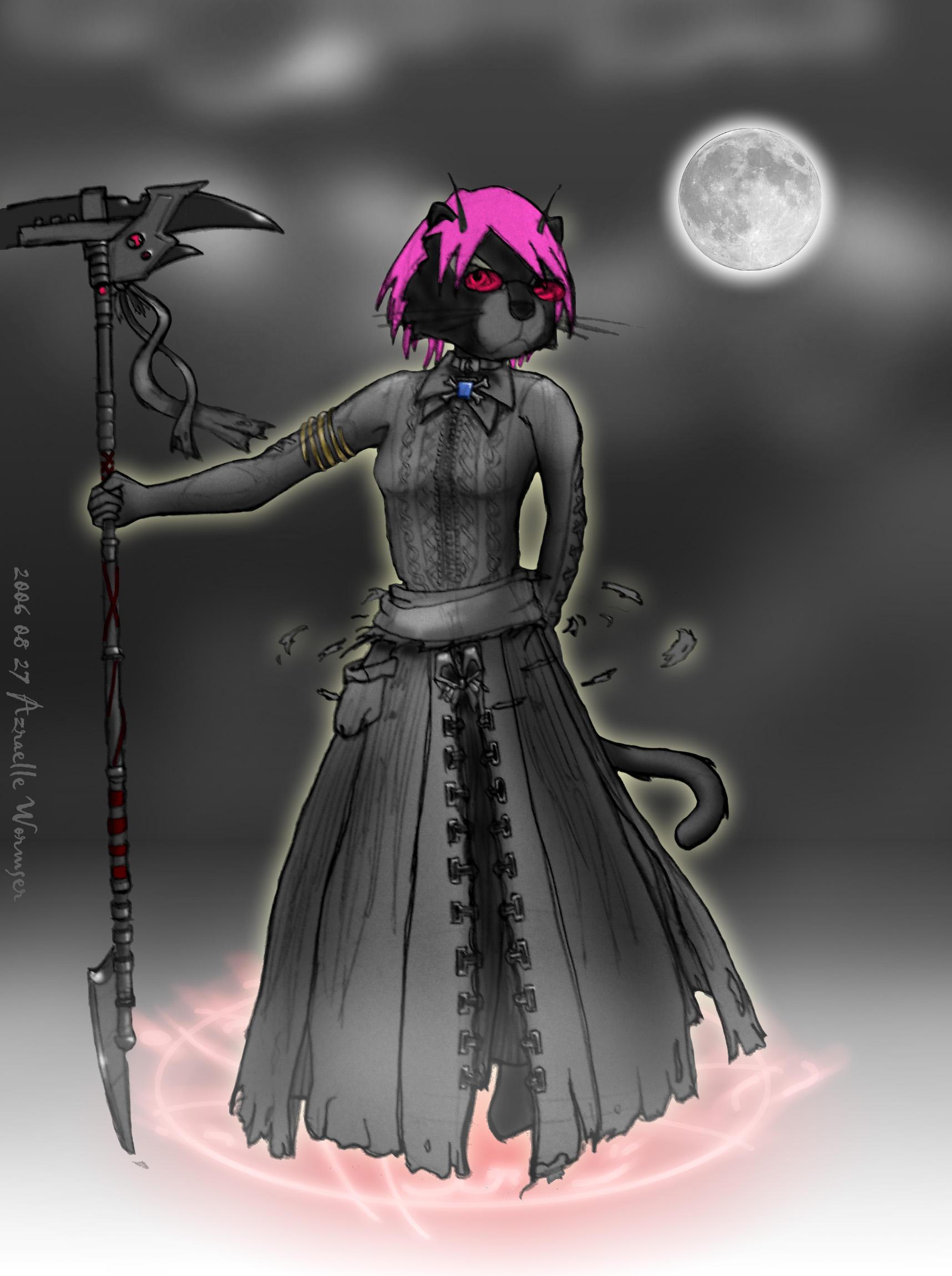 Furry Grim Reaper by AzraelleWormser