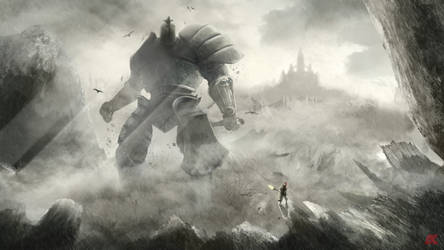 Iron Golem vs Dragonslayer Ornstein by AmagumaX