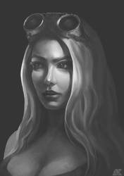 Face Study by AmagumaX