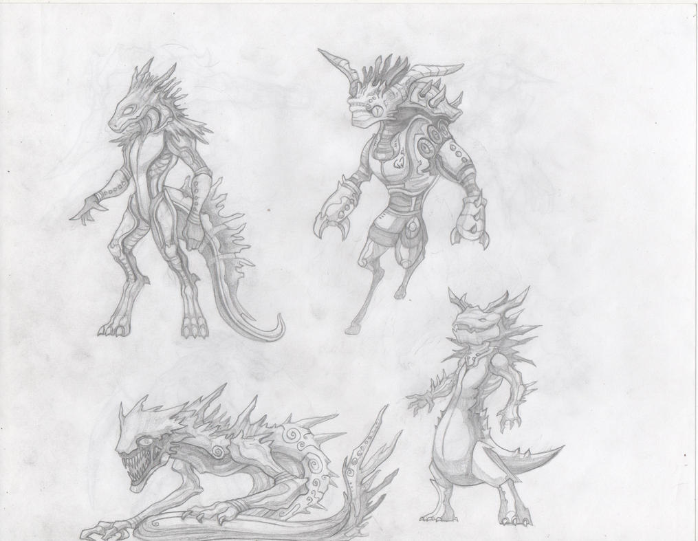 Critters sketch3 by Demondrage