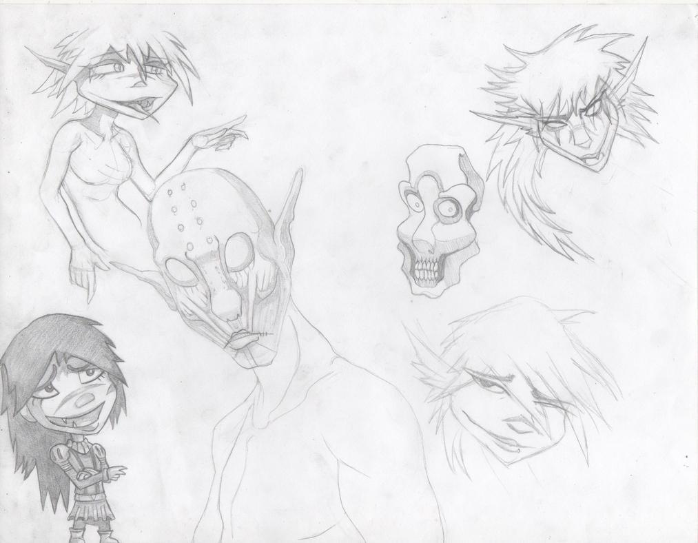 Faces skecho by Demondrage