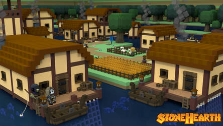 Stonehearth Lakeside Village by PandemicTyler