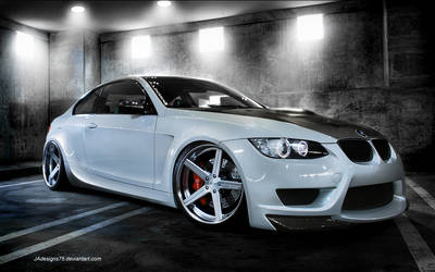 BMW White E92 M3 Render by JAdesigns75