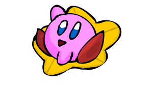 Kirby on a Warpstar