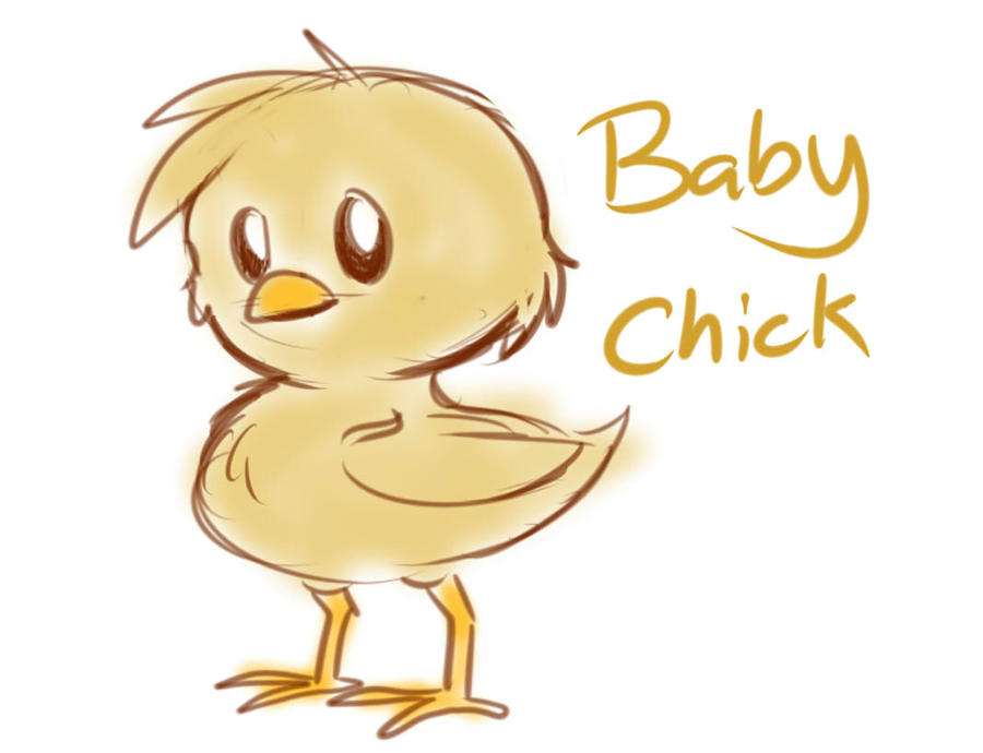 How to draw a baby chicken - photo#32