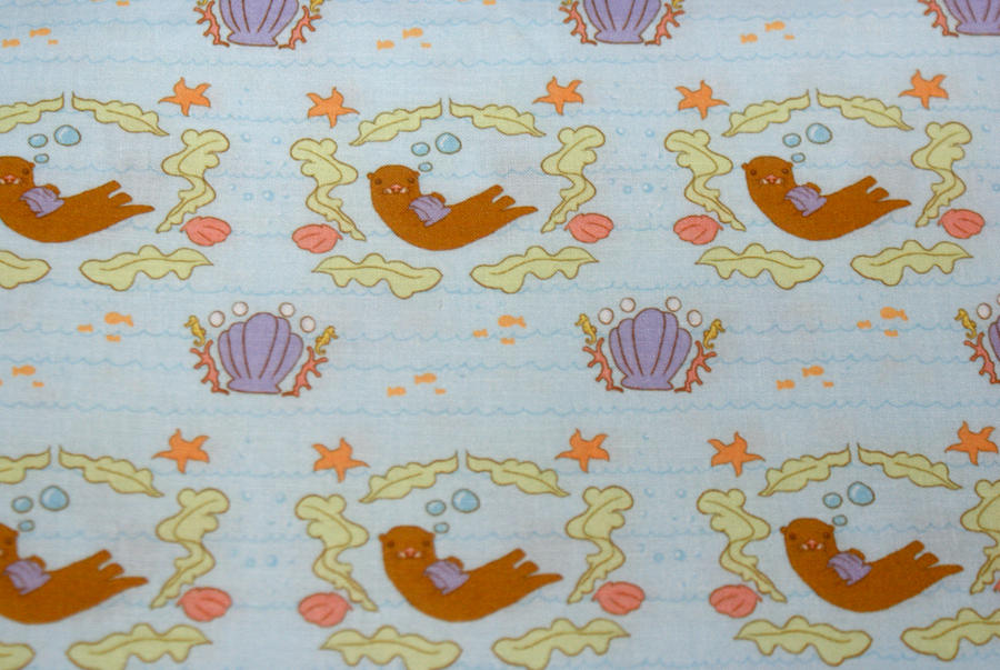 Sea Otter Salad Fabric