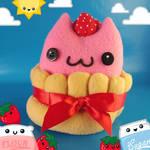 Clawberry Charlotte Cat Food Plush
