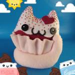 Red Velvet Catcake Cat Food Plush