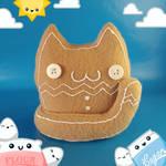 Gingerbread Cat Cat Food Plush