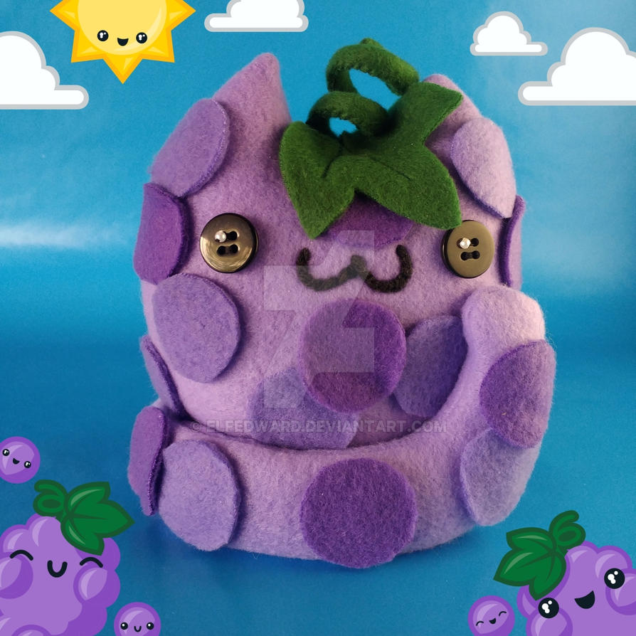 Litter of Grapes Cat Food Plush by Elfedward
