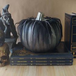 Black Silver Punk Halloween Pumpkin
