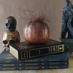 Copper Spiderweb Halloween Pumpkin