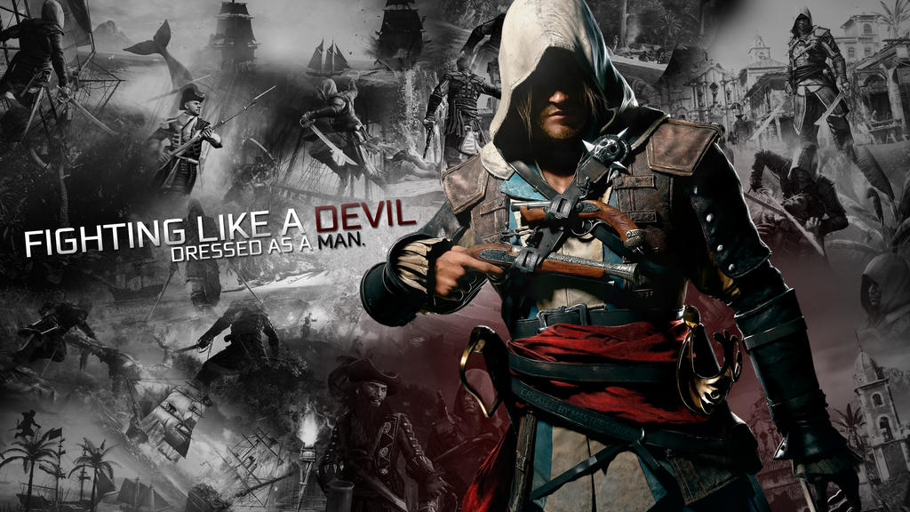 Assassins Creed 4 Black Flag Wallpaper Collage By Mastersebix