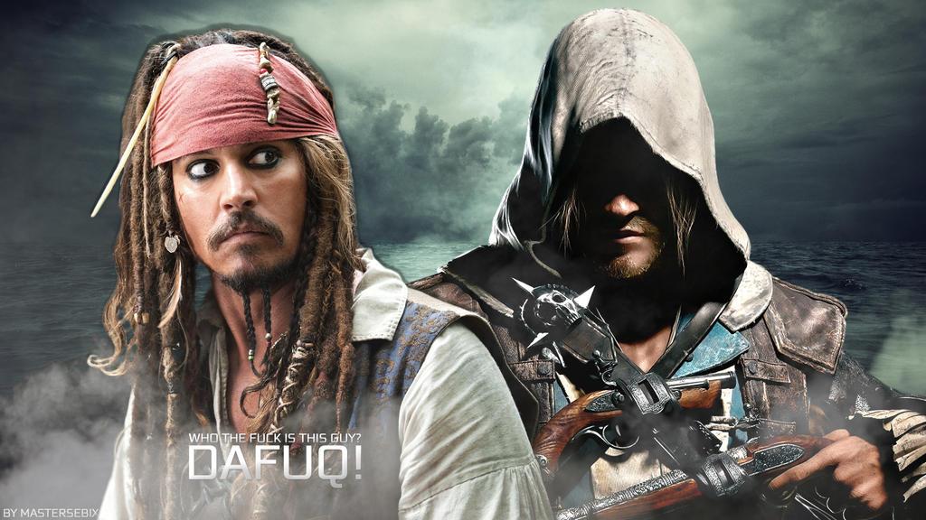 Edward Kennway Meets Jack Sparrow by mastersebiX