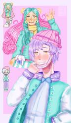 Pastel Girl And Pastel Boy