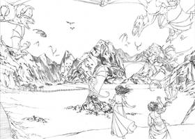 Death of Queens pgs 2 and 3 pencils by MMHudson