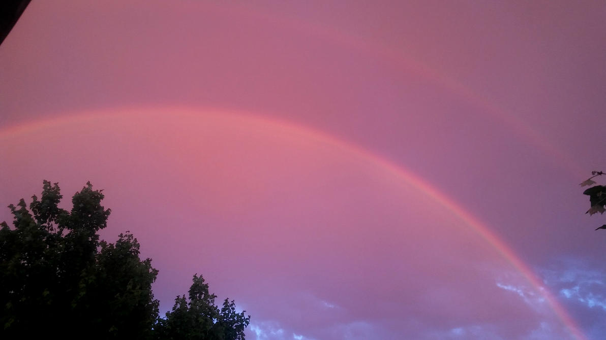 Double Sunset Rainbow by c55m
