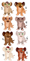 Lion Cub Adopts: 2/8 [OPEN]