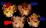 Kiara and Kovu's Cubs by ChippySmurf