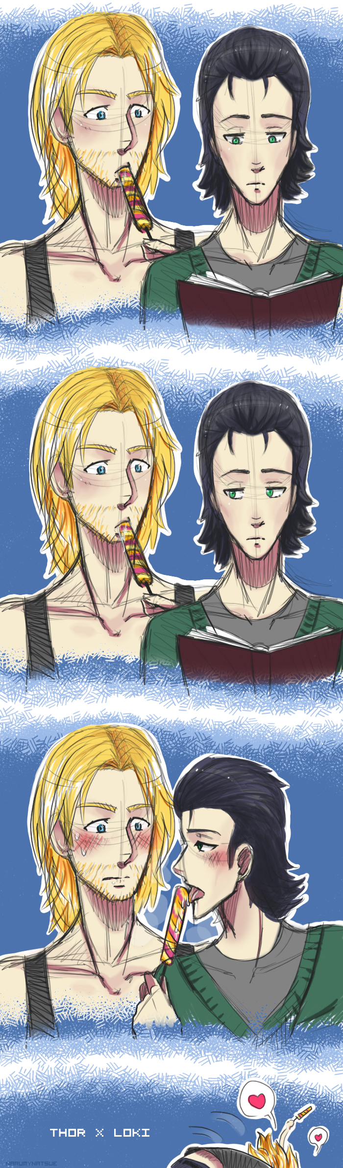 Thor x Loki by NarumyNatsue on DeviantArt