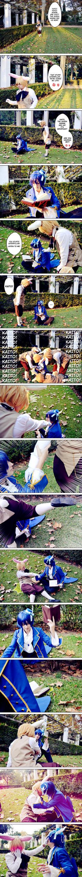 Kaito x Len (Alice in Musicland cosplay) by NarumyNatsue