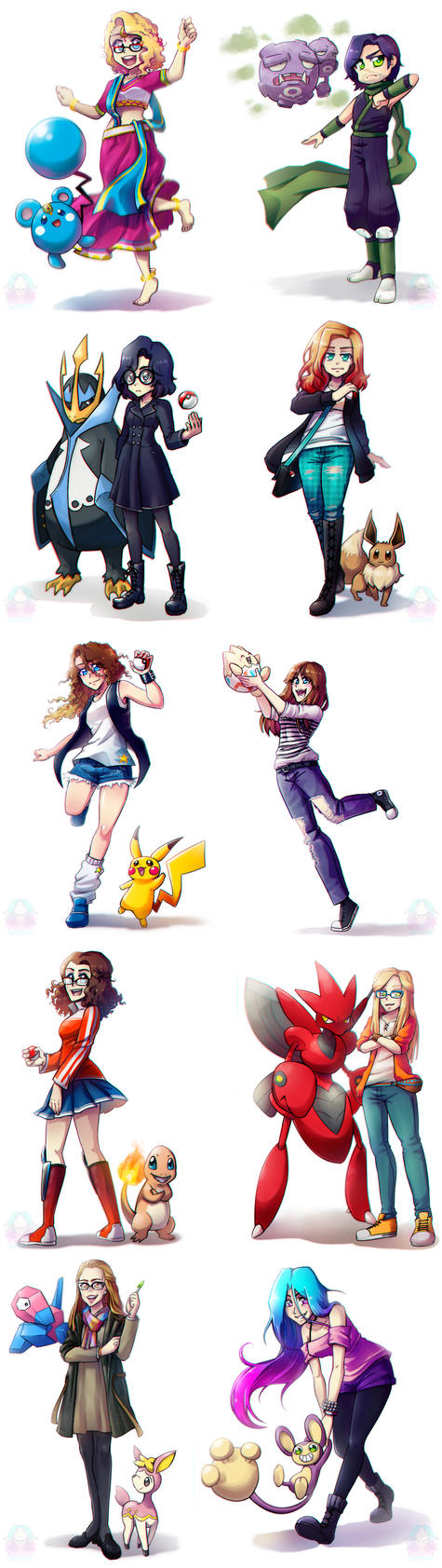Pokemon Trainers by NarumyNatsue
