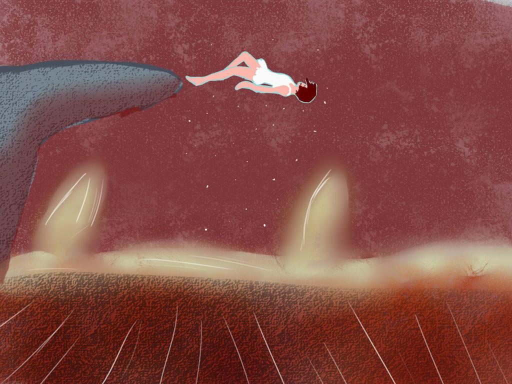 Falling by amberfireheart