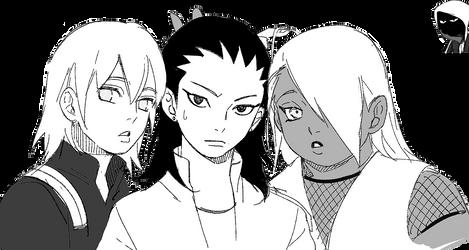 Shikadai, Inojin and Chouchou Render by fvckfdaname