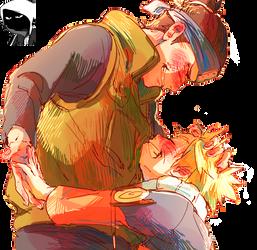 Naruto Uzumaki and Iruka-Sensei