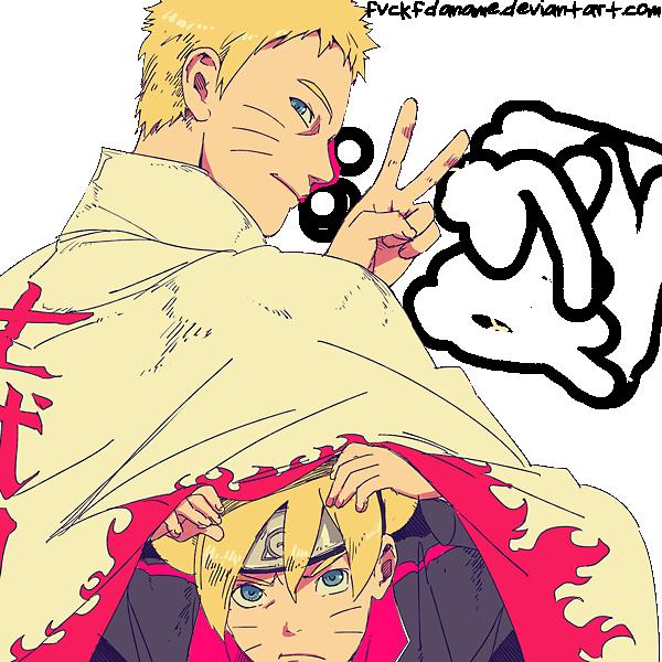 Naruto Uzumaki and Boruto Uzumaki by fvckfdaname on DeviantArt