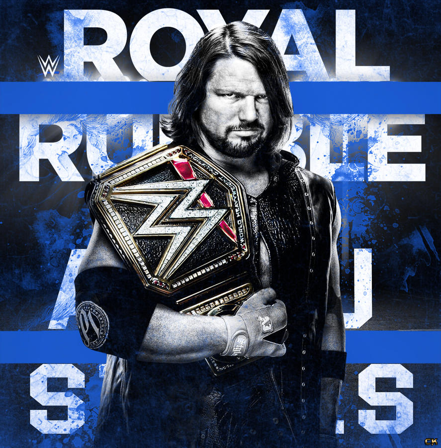 WWE Royal Rumble 2017 Poster Ft AJ Styles. By