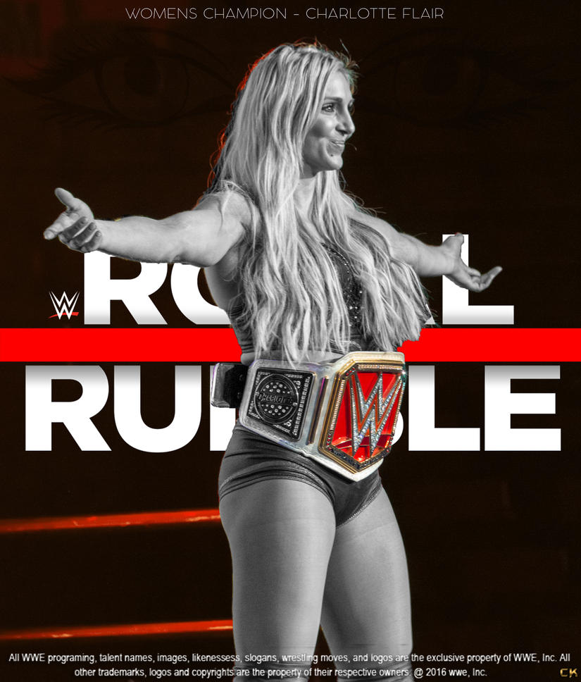 WWE Royal Rumble 2017 Poster Ft Charlotte Flair. by CaqybKhan1334