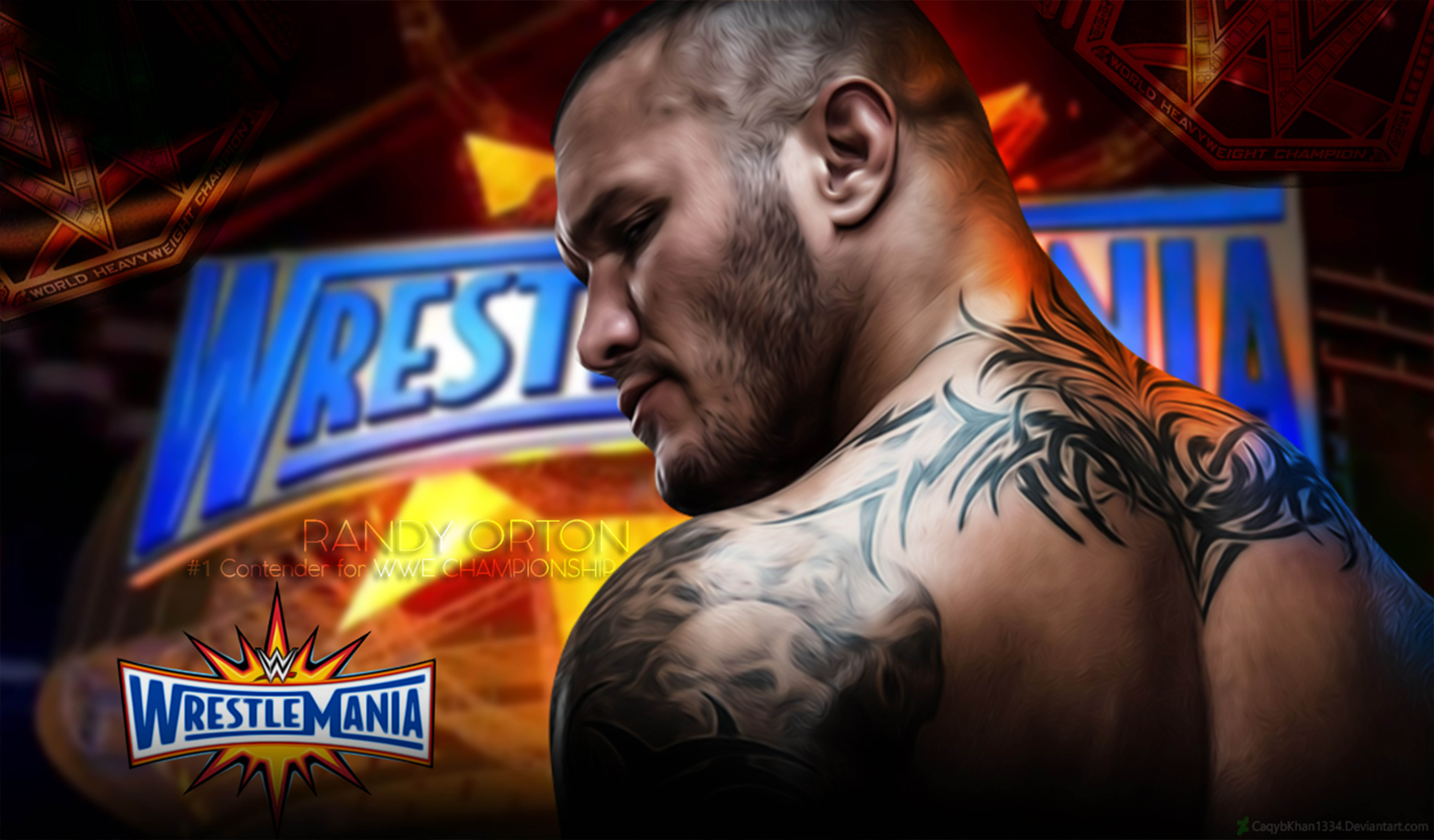 Wrestlemania 33 Wallpaper Banner Ft Randy Orton By CaqybKhan1334