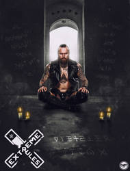 Extreme Rules 2019 Poster Featuring Aleister Black by CaqybKhan1334