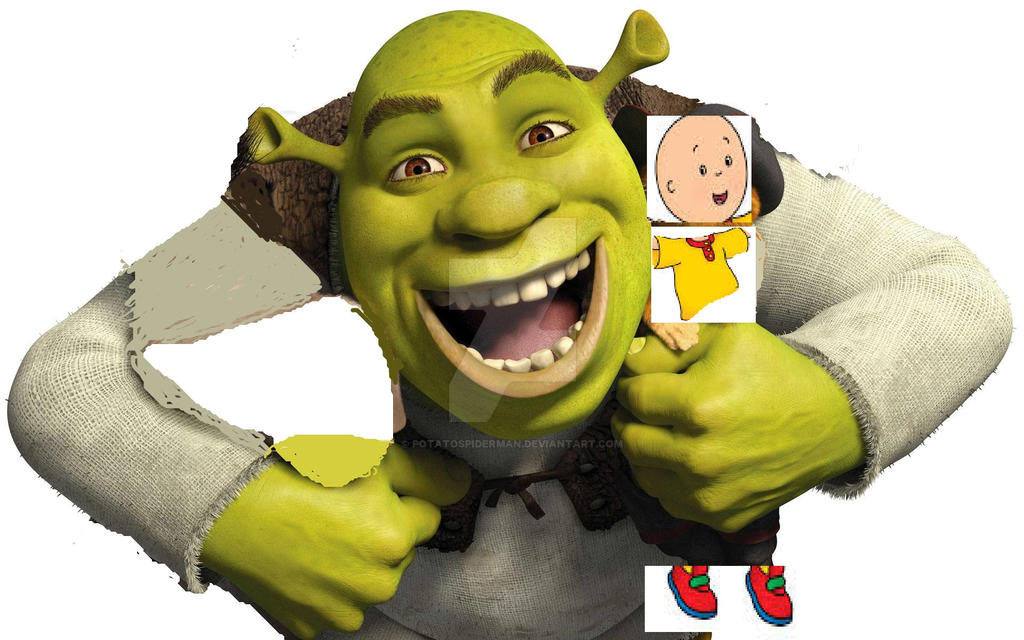 Shrek X Caillou By Potatospiderman On Deviantart