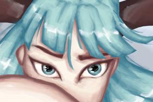 Morrigan eyes by maledictus