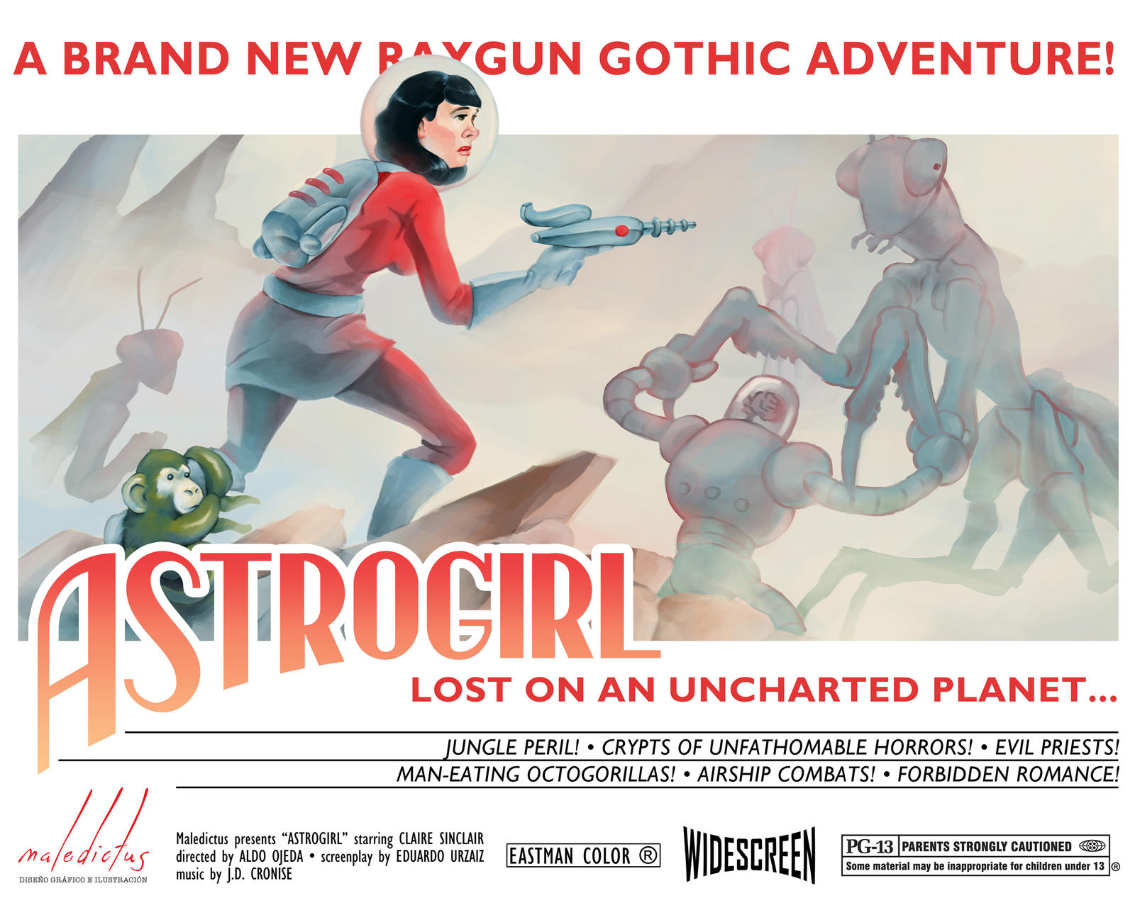 Astrogirl lost on an uncharted planet