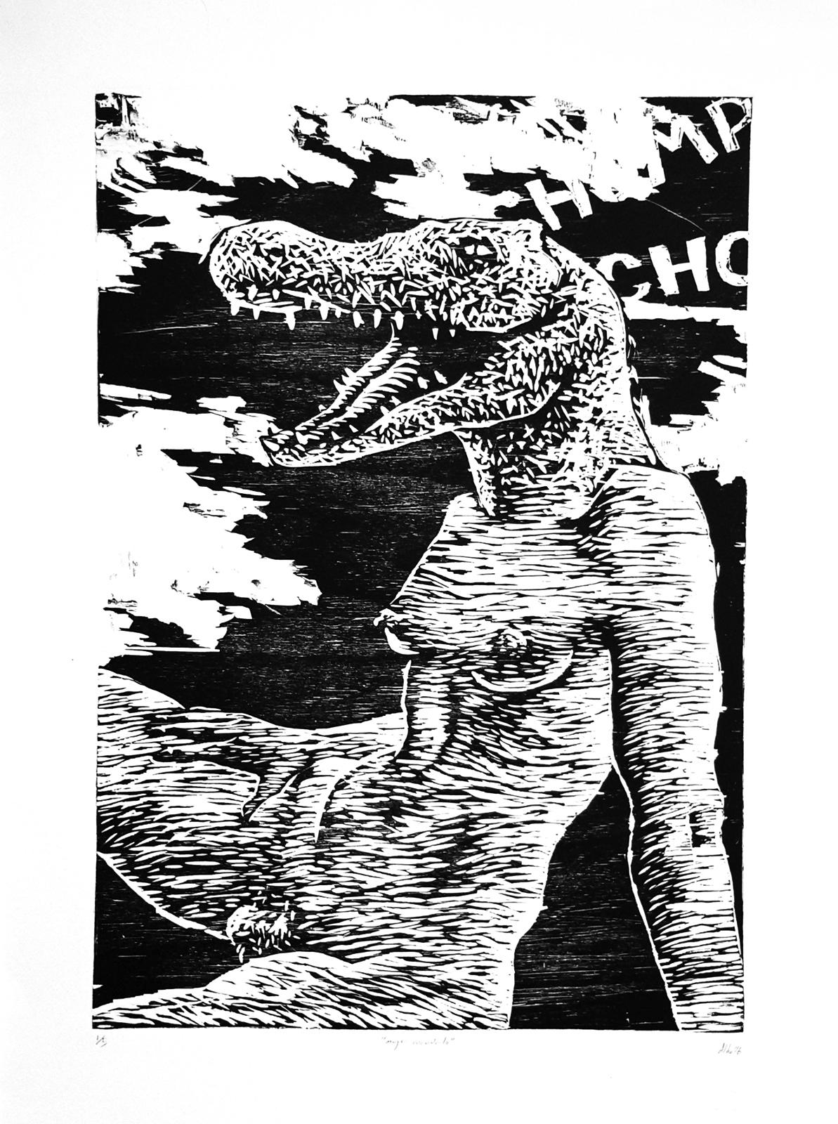 Mujer cocodrilo