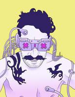 Cyberpunk Self by maledictus