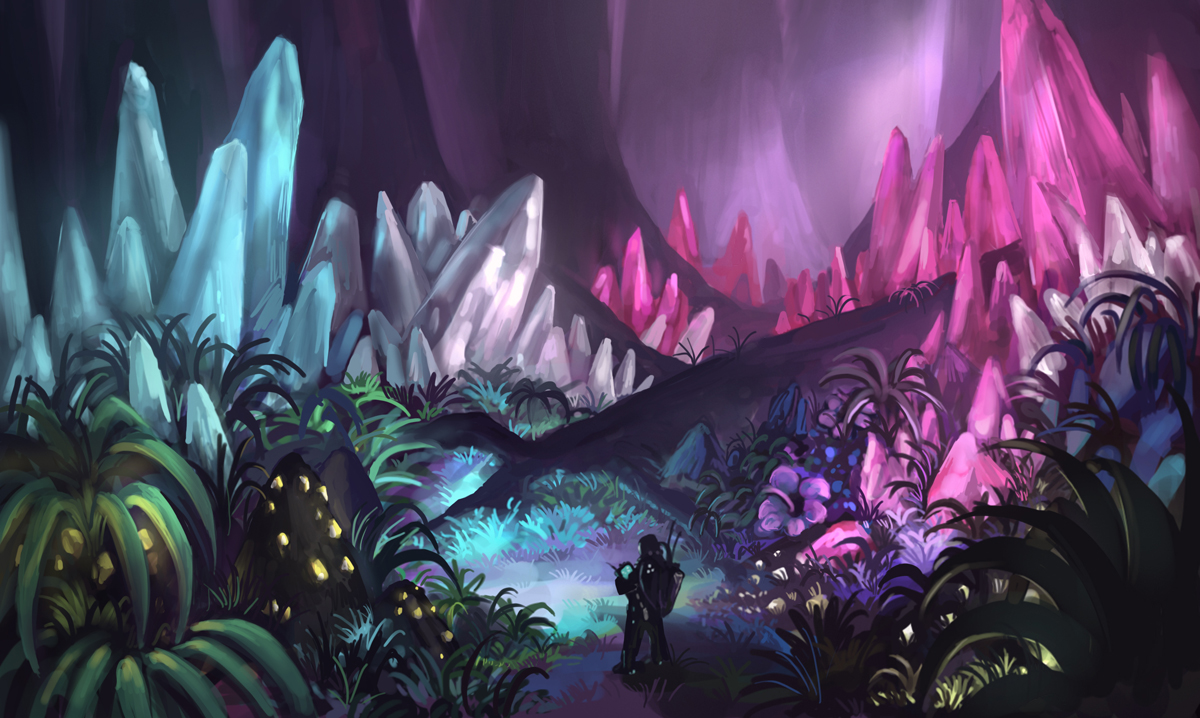 Crystal forest by longjh on deviantart for Paintings of crystals