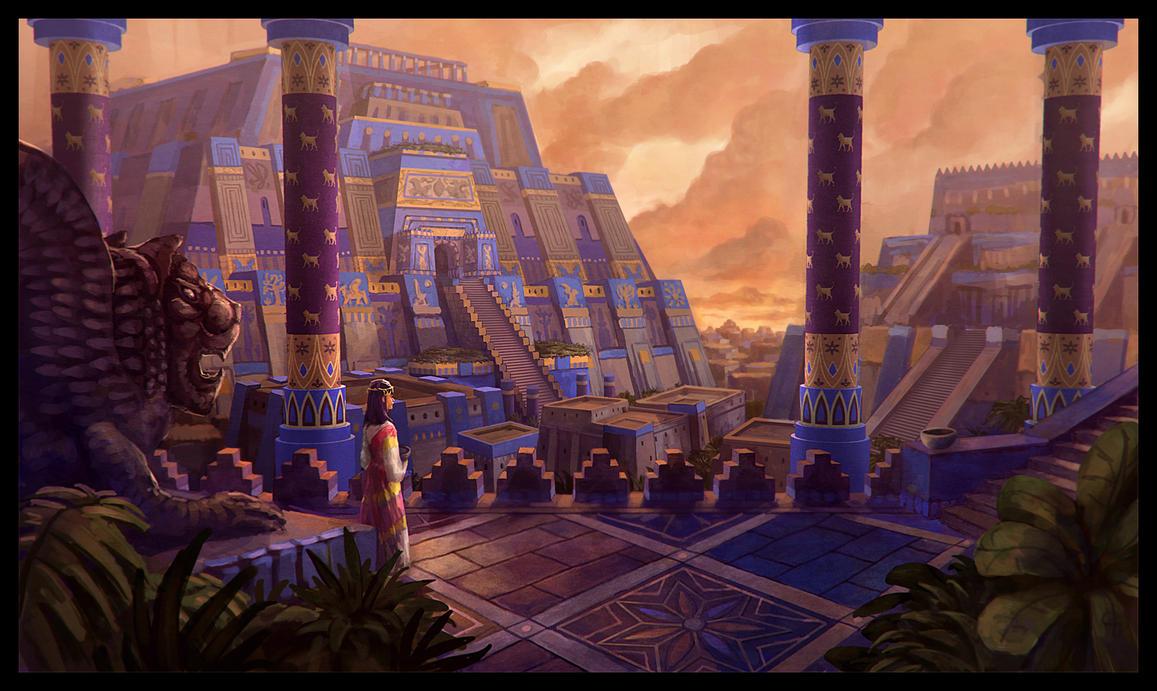 mesopotamian city by longjh on deviantart