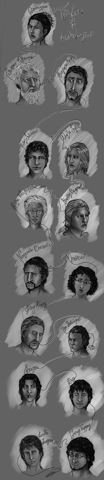 The Lies of Locke Lamora characters by Haekate