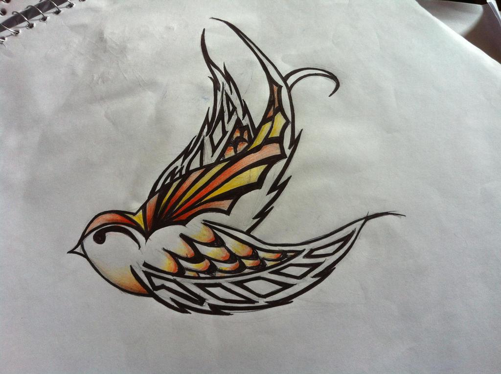 Tattoo design swallow by amyscott on deviantart for Swallow art tattoo