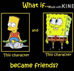 What if Bart and SpongeBob became friends?
