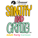 Sanjay And Craig Adult Party Cartoon Logo