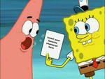 SpongeBob Holding Who On His Picture Meme Blank