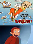 Curious George Reaction To Lincoln As Shazam
