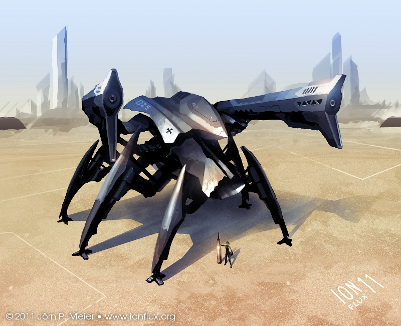 Hexapod Mech by IonfluxDA